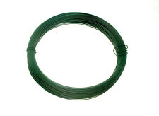 Garden Fence Wire 1.2 Mm X 0.75 Mm X 30 Metres  QTY 1 Roll Green Plastic Coated