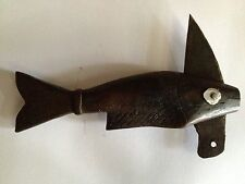 Antique Handcrafted Folk Art Small Wood Fish Knife Blade