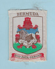 1980's SCOUT OF WEST INDIES - BERMUDA SCOUTS NATIONAL FLAG EMBLEM Patch