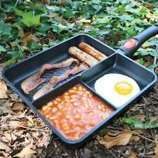 NGT MULTI SECTION FRYING PAN CARP FISHING TACKLE CAMPING WITH REMOVABLE HANDLE