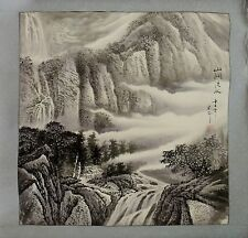 CHINESE WATER COLOR PAINTING ON RICE PAPER - 山澗流水 Landscape Painting