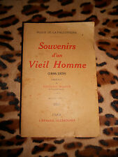 SOUVENIRS D'UN VIEIL HOMME 1866-1879 - Dugué de la Fauconnerie - Ollendorff