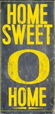 Oregon Ducks Home Sweet Home Wood Sign [NEW] NCAA Man Cave Den Wall
