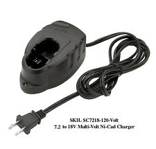 NEW SKIL SC7218-120V - 7.2 to 18 Volt Multi-Volt Ni-Cad Battery Charger