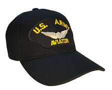 U.S. Army Aviator Hat Black Ball Cap US Army Aviator Wings MILSPEC
