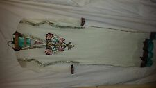 LADIES  VINTAGE  RETRO ? ASIAN WEDDING ? DRESS WHITE FATIMA'S AL RAHEEM APPAREL