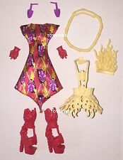 Monster High Ghouls Getaway Jinafire Long Doll Outfit Clothes Dress & Shoes NEW