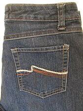 Nine West Court Street Straight Stretch Womens Jeans Size 6 x 32  Dark Mint