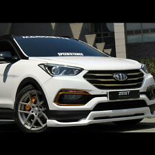 Front+Rear Lip Body kit Parts Unpainted For Hyundai Santa Fe Sports 2017+