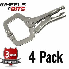 NEW 4 Pack Heavy Duty 11 Inch Locking Mole Grip C Clamps Work Welding Clamp Tool