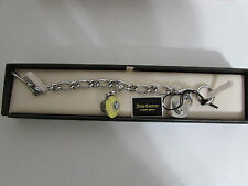 Juicy couture silver starter heart charm bracelet YJRU5212 with cupcake charm