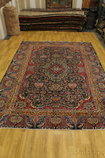 Semi Antique Navy Dynasty Historical Kashmar Persian Oriental Area Rug Sale 9X13