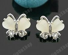 COMFY U CLIP ON DIAMANTE crystal BUTTERFLY EARRINGS