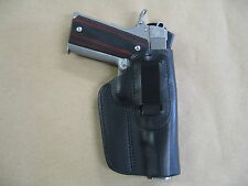 "Springfield 1911 5"" IWB Leather In Waistband Concealed Carry Holster BLACK RH"