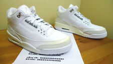 2010 NIKE AIR JORDAN III 3 WHITE PURE MONEY $ 25TH ANNIVERSARY SZ 9.5 cement iv