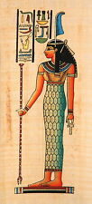 "Egyptian Papyrus -Hand Made - 5"" x 12.5"" - Ancient Art - Maat"