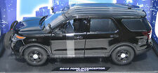 Motormax 1/18 Ford PI Utility Police SUV Black SLICKTOP    CASE OF FOUR!