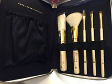 RARE MARC JACOBS DAISY GOLD BRUSH SET IN ZIPPER POUCH - POWDER BLUSH EYEDHADOW