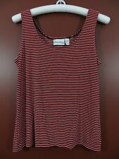 STK0585- NEW PRIVATE EDITION By CHICO'S Women Knit Top Multi-Color Striped 2 M-L