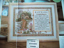 SPRINGTIME DELIGHT RUSTIC SAMPLER  WITH EASTER COOKIE RECIPE CROSS STITCH CHART