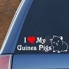 I LOVE MY GUINEA PIGS - Vinyl Decal - Fun, Toy, Cage, Food, Snack, Costume
