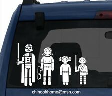 STAR WARS FAMILIES Car sticker, bumper stickers, decal,starwars
