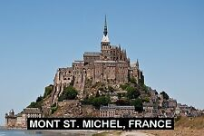 SOUVENIR FRIDGE MAGNET of MONT ST. MICHEL FRANCE