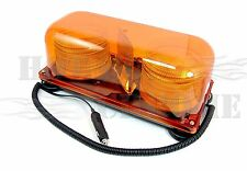 Amber Colored Magnetic Mount Mini Strobe Light Bar Truck Trailer Hazard Alert