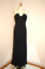 DESIGNER JOSEPH RIBKOFF BLACK &PEARL HALTERNECK LONG EVENING GOWN DRESS 12