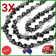 "3X CHAINSAW CHAIN SEMI CHISEL 3/8 058 68DL for Husqvarna 18"" Bar Husky Saw Chain"