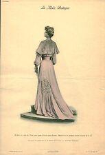 """Publicité Ancienne """" La Mode Pratique Robe en Crèpe de Chine  No 11  1904"""