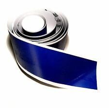 "72"" x 2"" Ultra Reflective Thin blue line Windshield Strip -TBL Police Support"