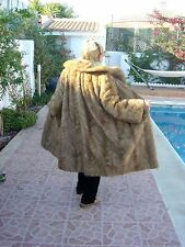 REAL HONEY PALOMINOE MINK FUR COAT..GREAT DESIGN & STYLE. FULL ON GLAMOUR WOW !!