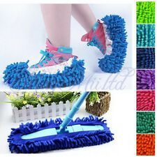 1xMultifunction Dust Floor Cleaning Slippers Shoes Mop House Clean Shoe Cover#3H