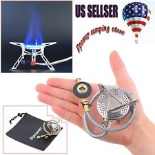 Portable Mini Backpack Outdoor Gas Butane Propane Canister Camp Stove Burner