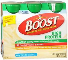 BOOST High Protein Nutritional Energy Drinks Vanilla 48 oz (Pack of 3)
