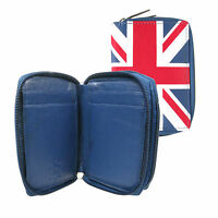 GB Union Jack Wallet Purse With Credit Card,Key Holder & Double Zip Closure 0114
