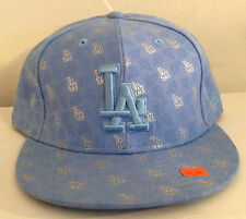 Los Angeles Dodgers MLB New Era 59FIFTY Fitted Hat 100% Wool Baby Blue Sz 7 1/2