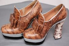 Awesome MIU MIU platform lizard shoes heels w/bow sz 37 / US 6.5 - worn once!!