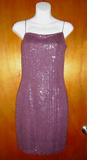 TRACY REESE WOMEN'S Short Beaded Cocktail Dress Lavender SZ:4 NWT