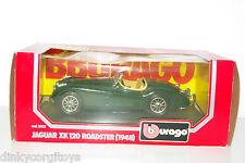 BBURAGO BURAGO 1502 JAGUAR XK 120 ROADSTER 1948 GREEN MINT BOXED RARE!!!