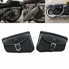 2pcs Motorcycle PU Side Saddle Bags for Harley Davidson XL Sportster 1200 Custom