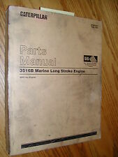 CAT Caterpillar 3516B MARINE ENGINE PARTS MANUAL BOOK CATALOG 4BW1 &UP V16 GUIDE