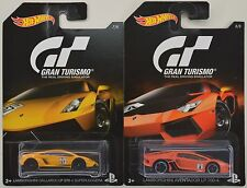 2016 Hot Wheels Gran Turismo: LAMBORGHINI AVENTADOR & GALLARDO - 2 Car LOT Set