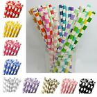 25Pcs Birthday Wedding Party Colorful Striped Biodegradable Paper Drinking Straw