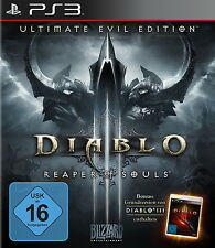 Playstation ps3 jeu diablo reaper of souls ultime Evil Edition + Diablo III