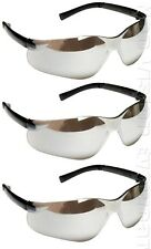 Lot of 3 Pair Cordova Dane Silver Mirror Lens Safety Glasses Sunglasses Z87+