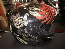 *NEW* Torc Full Face Helmet shielded, Black A.Large L Motorcycle ATV bike snow