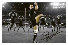 CARLOS SPENCER - NEW ZEALAND ALL BLACKS AUTOGRAPHED SIGNED A4 PP POSTER PHOTO