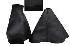 FITS NISSAN 300ZX REAL BLACK LEATHER GEAR/HANDBRAKE GAITER